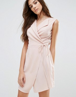 photo Wrap Dress by Wal G, color Pink - Image 1