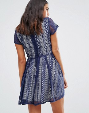 photo Lace Dress by Wal G, color Navy - Image 2