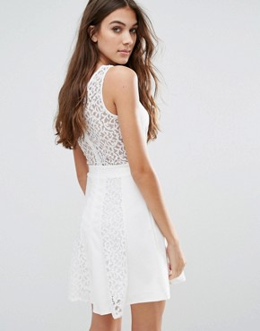 photo Skater Dress by Wal G, color White - Image 2
