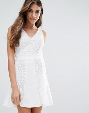 photo Skater Dress by Wal G, color White - Image 1