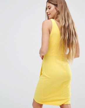 photo Drape Front Dress by Wal G, color Yellow - Image 2