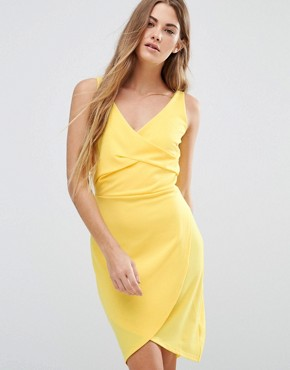 photo Drape Front Dress by Wal G, color Yellow - Image 1