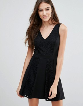 photo Skater Dress by Wal G, color Black - Image 1