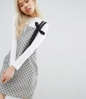 photo Pinafore Layer Shift Dress in Print by STYLENANDA, color  - Image 1