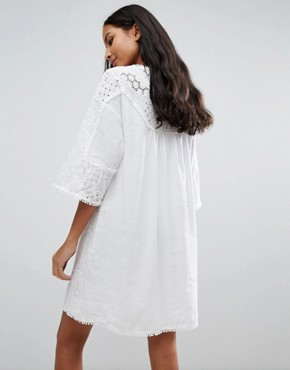 photo Amo Boxy Dress by MiH Jeans, color White - Image 2