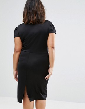 photo Dress with Open Neck by Club L Plus, color Black - Image 2
