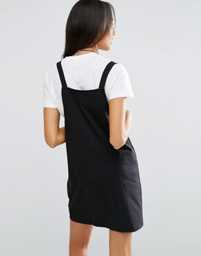 photo Pinafore Dress by ASOS TALL, color Black - Image 2