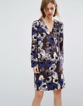 photo Flower Print Dress by Selected Femme, color  - Image 1