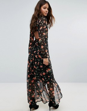 photo Maxi Dress in Pretty Floral with Open Back by ASOS TALL, color  - Image 2