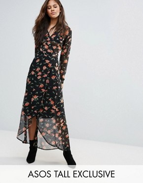 photo Maxi Dress in Pretty Floral with Open Back by ASOS TALL, color  - Image 1