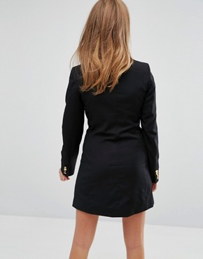 photo Cecille Tuxedo Dress by Millie Mackintosh, color Black - Image 2
