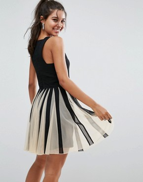 photo Mesh Fit and Flare Mini Dress by ASOS, color  - Image 2