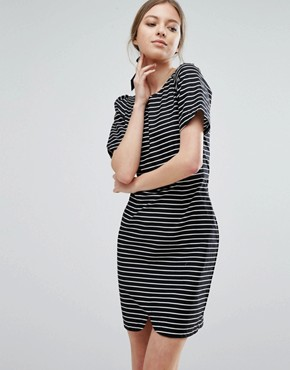 photo Stripe Pencil Dress by Trollied Dolly, color Black/White - Image 1