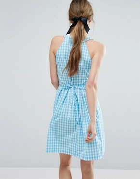 photo Gingham Sundress by Trollied Dolly, color Blue Gingham - Image 2