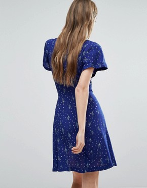 photo Cactus Tea Dress by Trollied Dolly, color Blue Cactus - Image 2