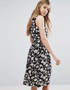 photo Floral Sketch Print Dress by Trollied Dolly, color  - Image 2
