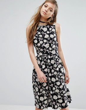 photo Floral Sketch Print Dress by Trollied Dolly, color  - Image 1
