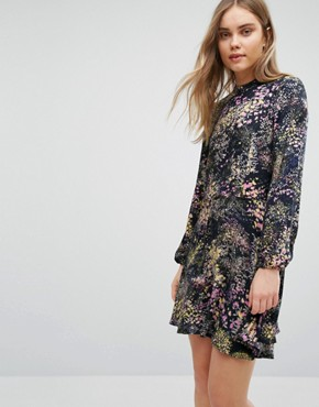 photo Printed Skater Dress by Warehouse, color  - Image 1
