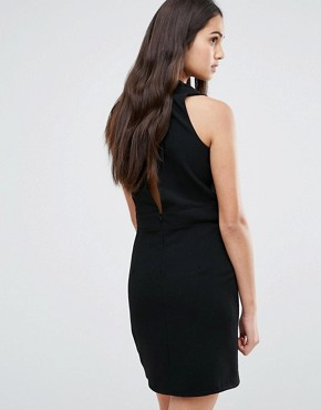 photo Low Front Pinafore Dress With Low Back by Re:Dream, color Black - Image 2