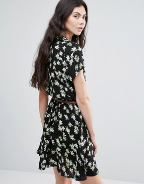 photo Flower Collard Dress by Madam Rage, color Black - Image 2