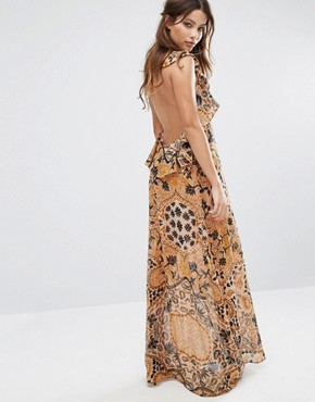 photo Margot Maxi Dress in Print by For Love and Lemons, color Goldenrod - Image 2