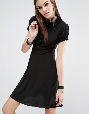 photo Babydoll Dress by Tripp NYC, color Black - Image 1