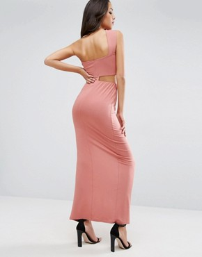photo Two Piece Maxi Dress by ASOS, color Peach - Image 2