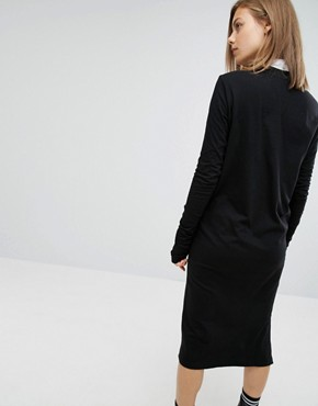 photo Slogan High Neck Dress by Cheap Monday, color Black - Image 2