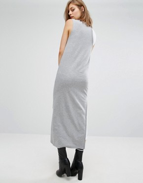 photo Panel Dress with Mesh Insert by Cheap Monday, color Grey Melange - Image 2