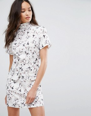 photo Floral Print High Neck Dress by Girls on Film, color  - Image 1