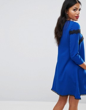 photo Lace Tunic Dress by Girls on Film, color Blue - Image 2