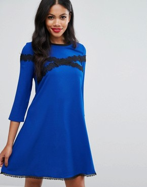 photo Lace Tunic Dress by Girls on Film, color Blue - Image 1