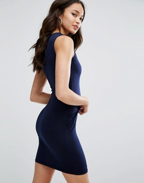 photo Mini Dress With Knot Front by Girls on Film, color Navy - Image 2