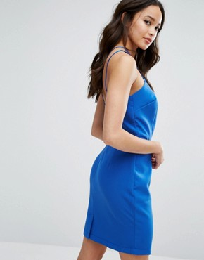 photo Strappy Bodycon Dress by Girls on Film, color Blue - Image 2