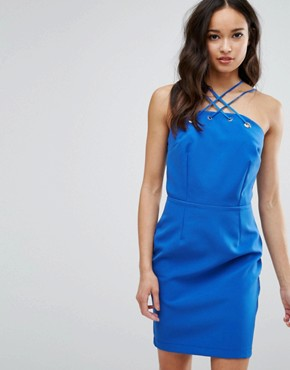 photo Strappy Bodycon Dress by Girls on Film, color Blue - Image 1