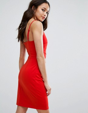 photo Cut Out Dress by Girls on Film, color Tomato Red - Image 2