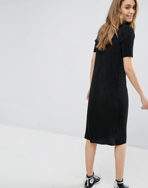 photo Plisse Dress by Pull&Bear, color Black - Image 2