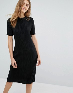 photo Plisse Dress by Pull&Bear, color Black - Image 1
