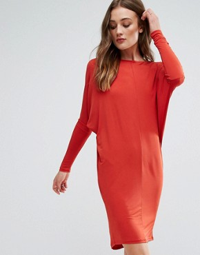 photo Long Sleeve Dress by Glamorous, color Rust - Image 1
