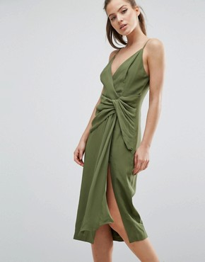 photo Interupt Dress by C/meo Collective, color Pine - Image 1