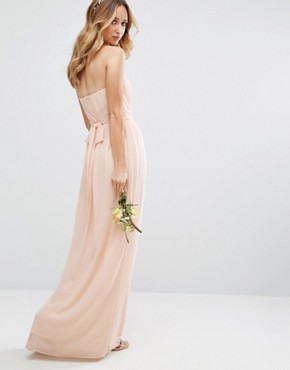 photo Bandeu Maxi Dress by TFNC WEDDING, color Nude - Image 2