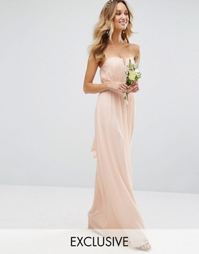 photo Bandeu Maxi Dress by TFNC WEDDING, color Nude - Image 1