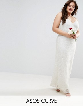 photo Cami Embellished Maxi Dress by ASOS CURVE BRIDAL, color Cream - Image 1