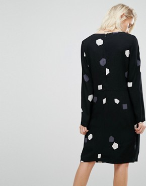 photo Dress with Printed Shapes by Selected Femme, color Black - Image 2