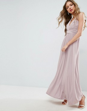photo Drape Twist Back Maxi Dress by ASOS WEDDING, color Nude - Image 2