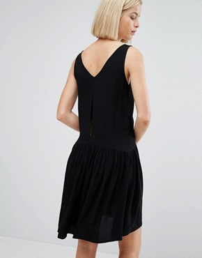 photo Skater Dress with Zip Detail by Moss Copenhagen, color Black - Image 2