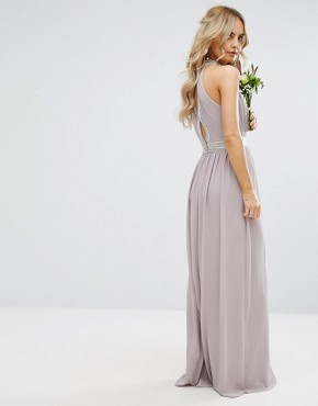 photo Maxi Dress with Embellishment by TFNC Petite Wedding, color Grey - Image 2