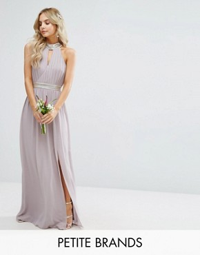 photo Maxi Dress with Embellishment by TFNC Petite Wedding, color Grey - Image 1