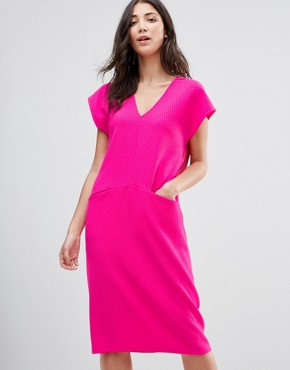 photo Midi Shift Dress by Traffic People, color Pink - Image 1