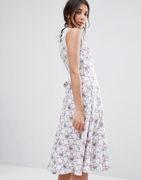 photo Printed Midi Shirt Dress by Traffic People, color  - Image 2